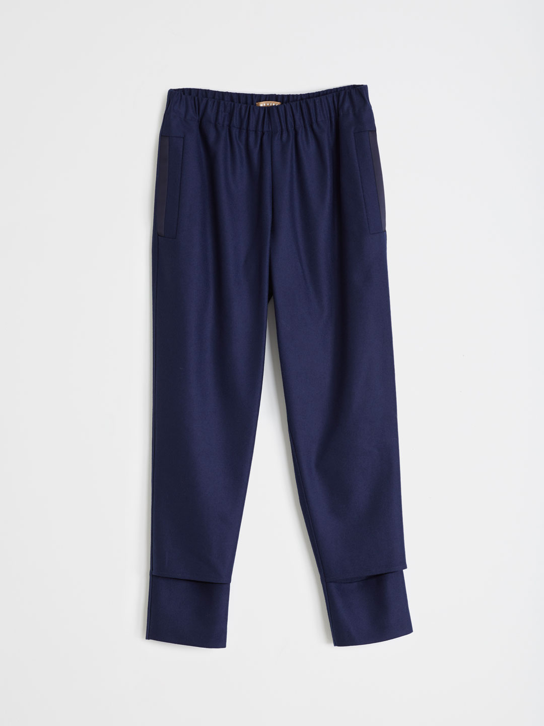 Extra Fine Merino Wool Pants - Blue