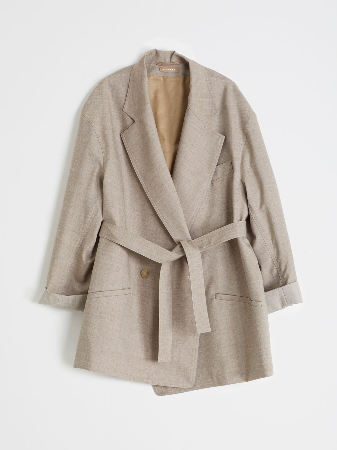 Wool Twill Jacket - Beige