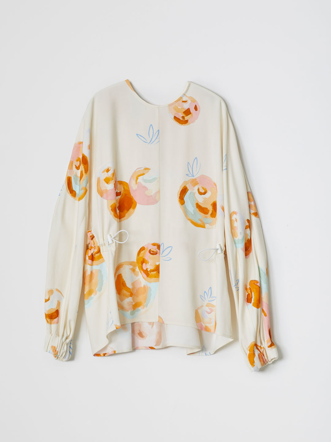 Pastel Fruit Print Blouse - Off White