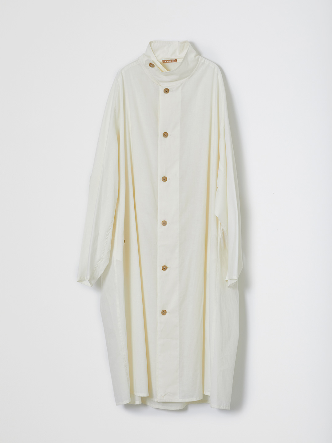 Light Poplin Shirt Coat - Off White