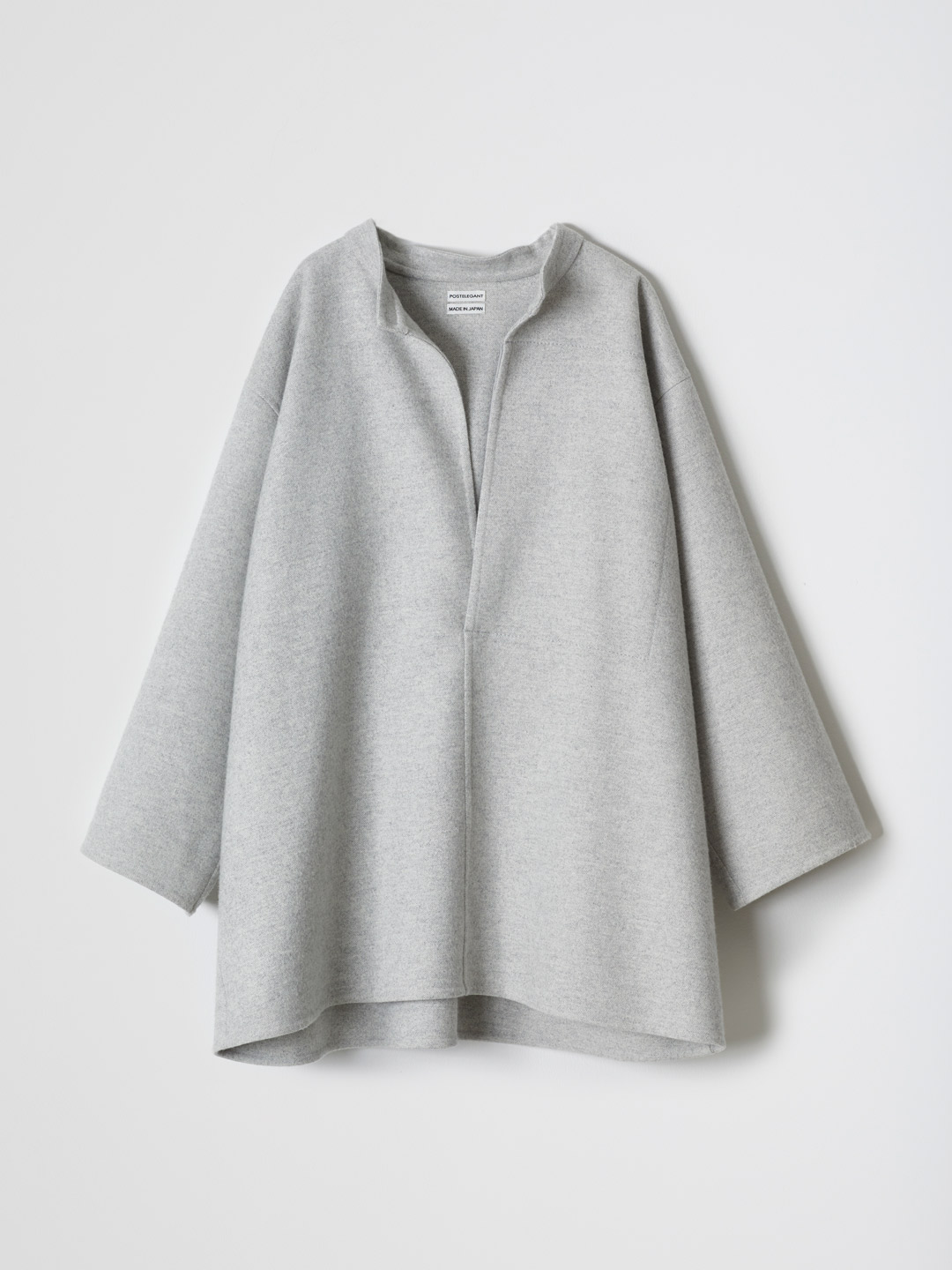 Extra Fine Wool Rever Top - Grey