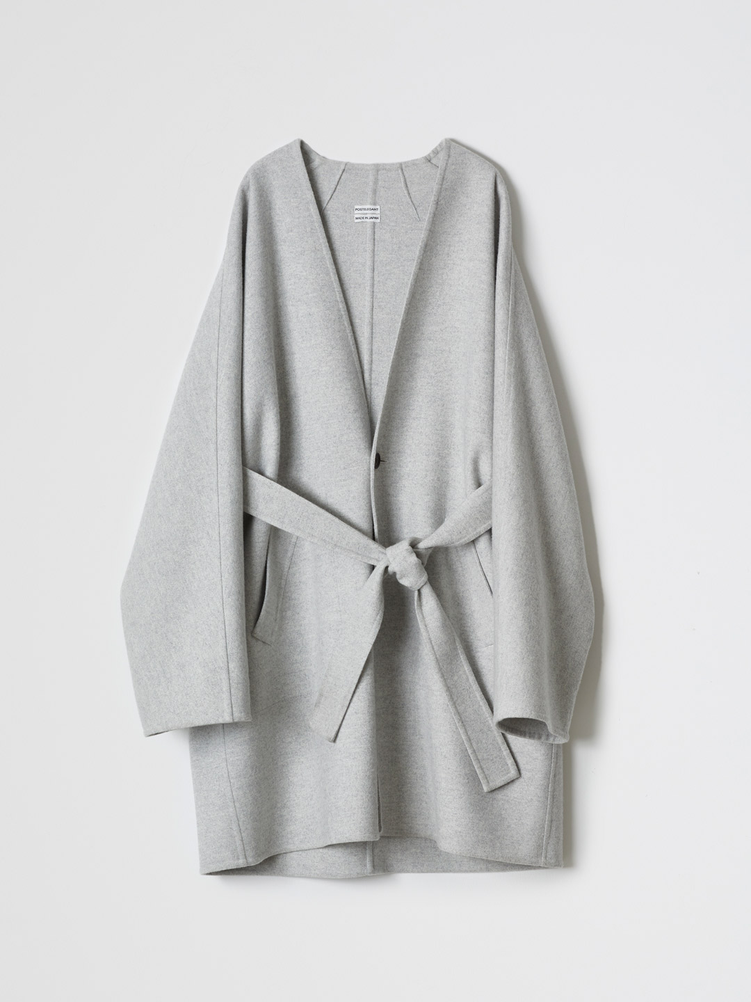 Special Fabric Double Face Hand-sewn Coat - Grey