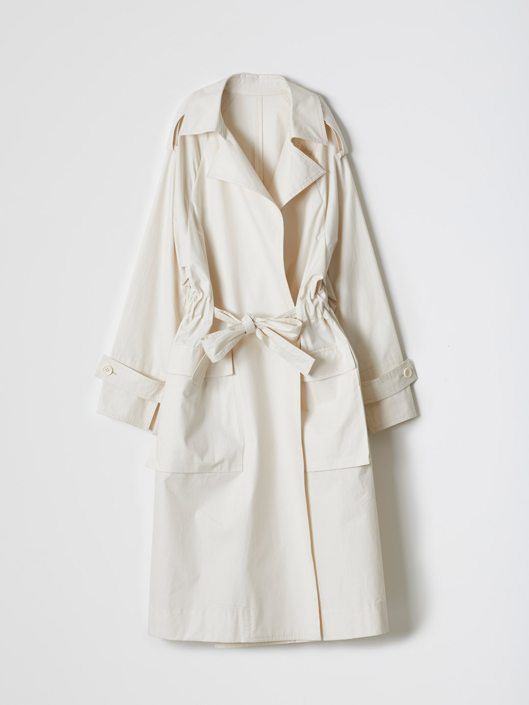 Water-repellent Cotton Coat - Off White