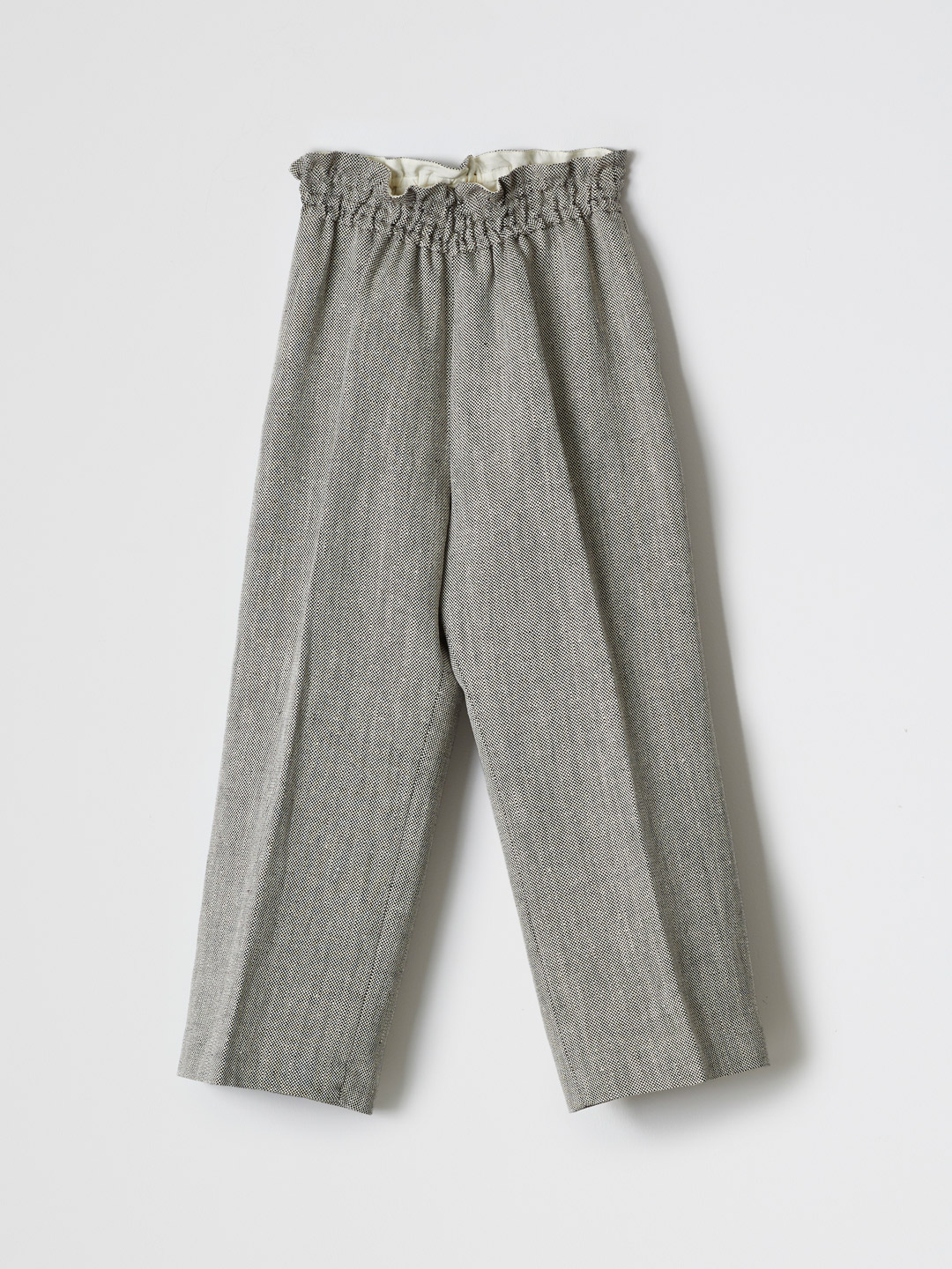 Silk Linen Wide Pants - Grey