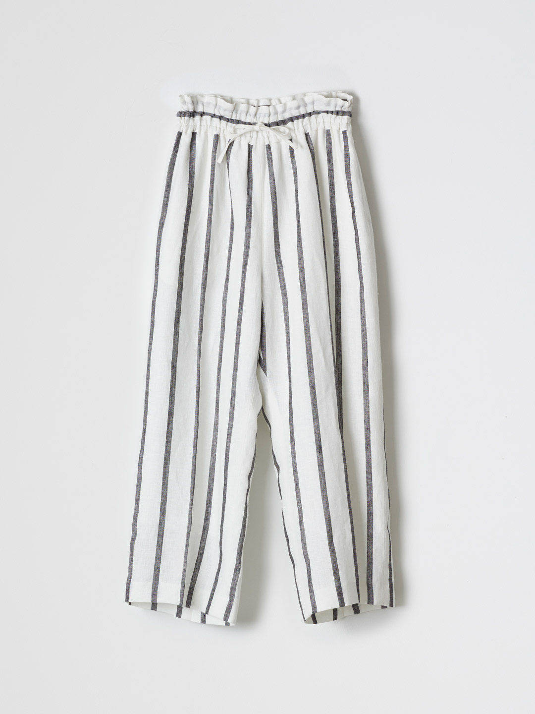 Linen Wide Pants - White