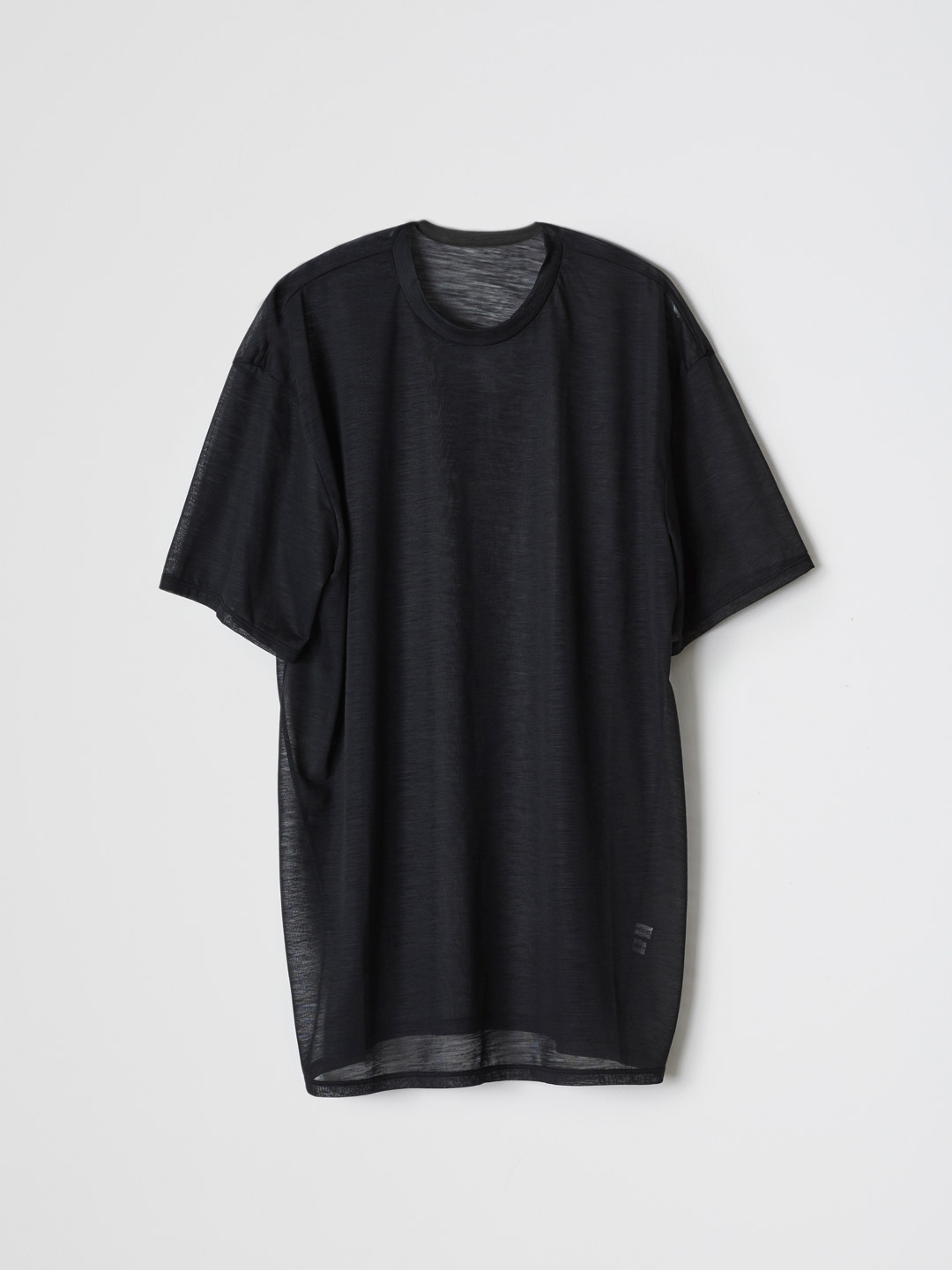 Fine Summer Wool T-Shirts - Black