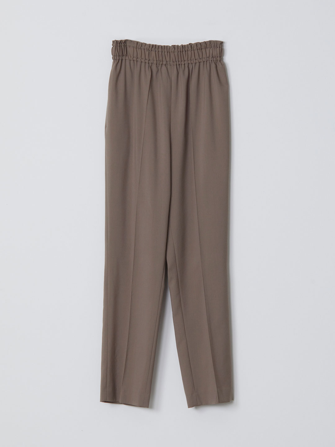 No 0144  Wool Easy Trousers - Brown