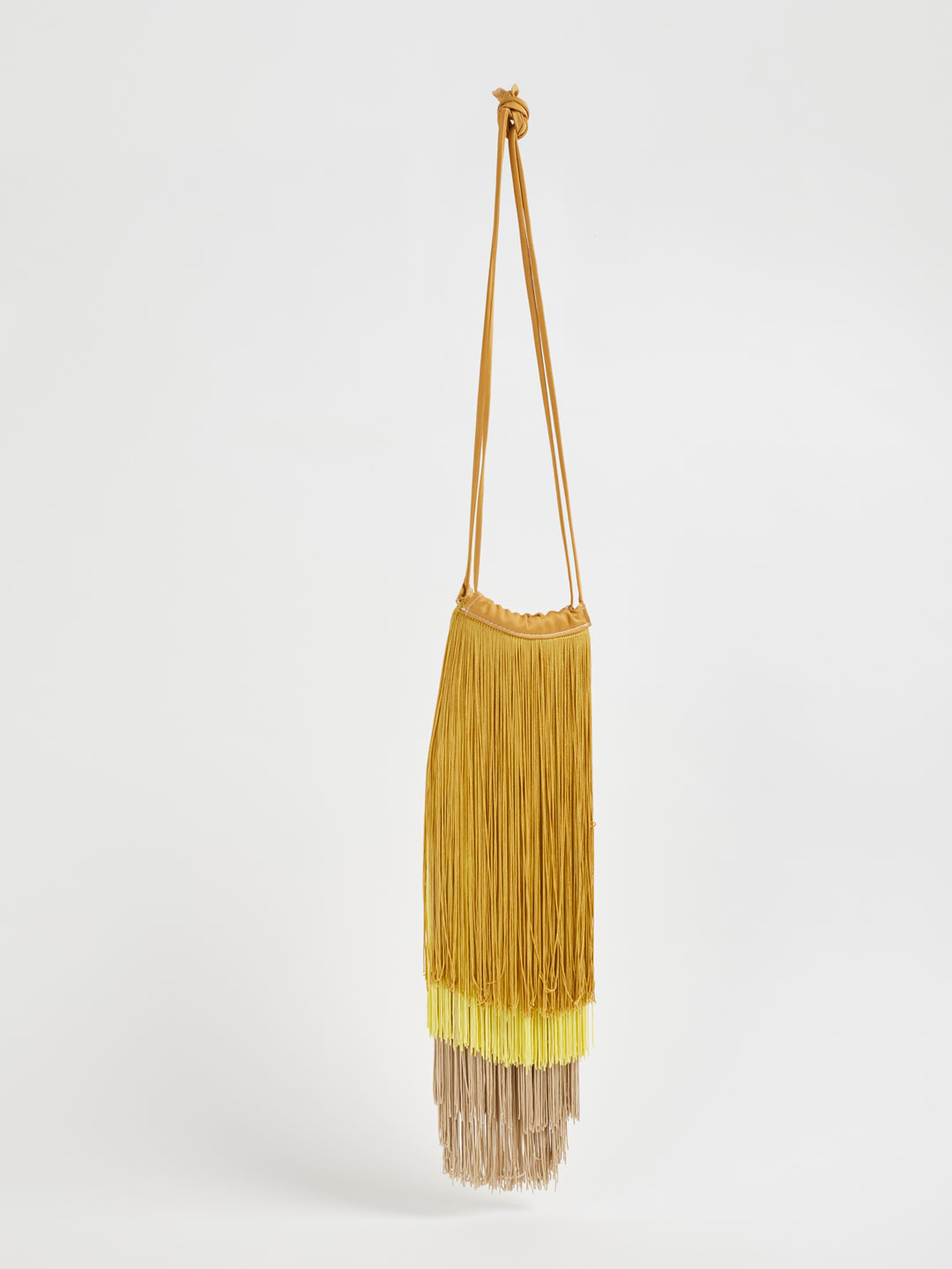 Fringe Bag - Yellow Beige