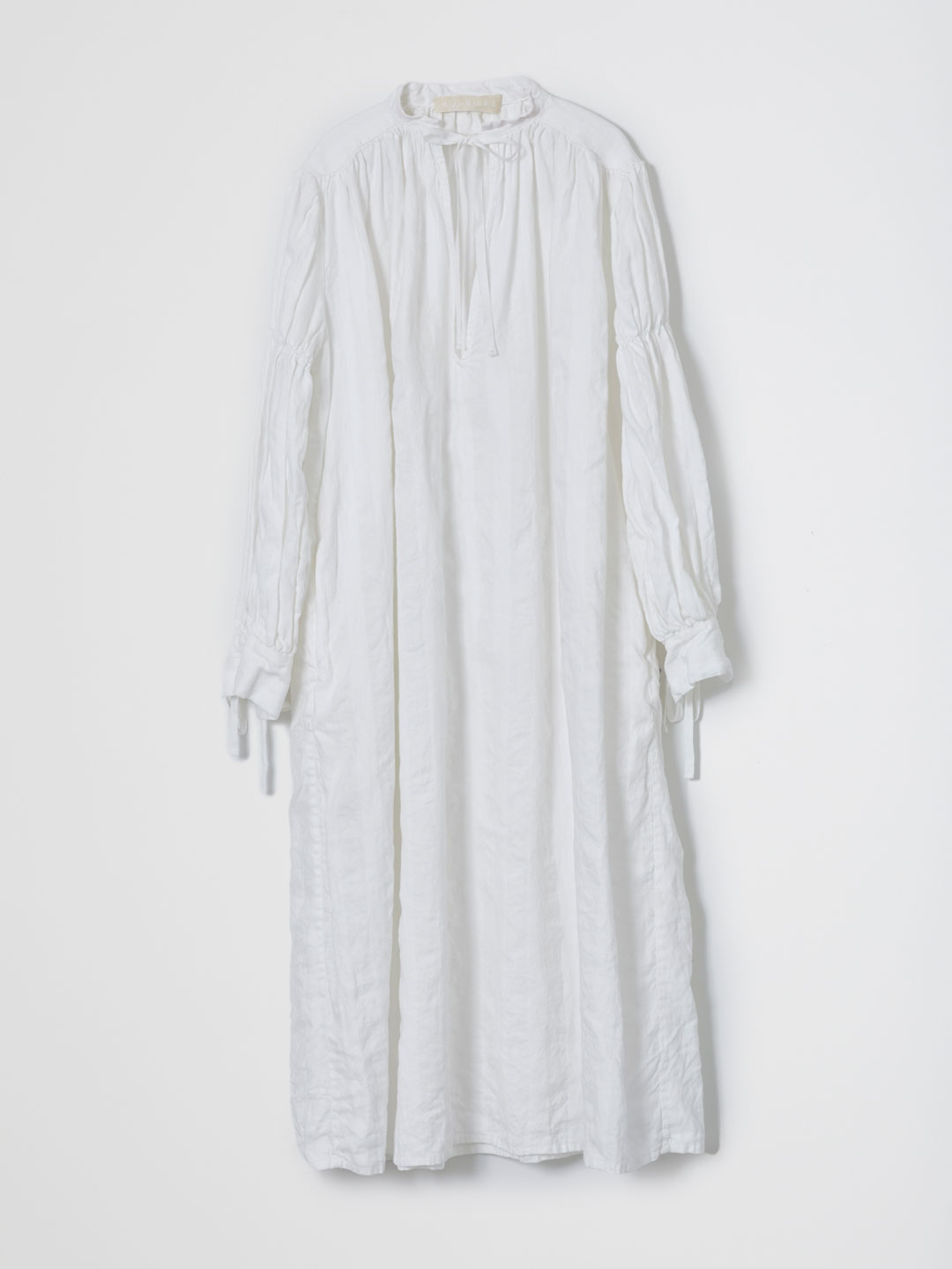 Linen Vintage Dress  - Off White