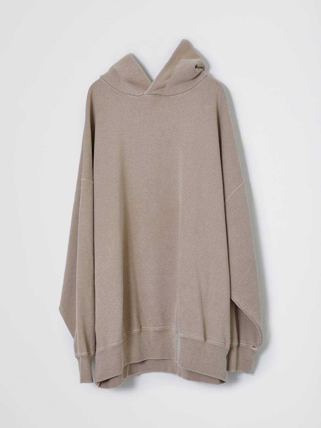 Basic Hooded Sweat Pullover  - Beige