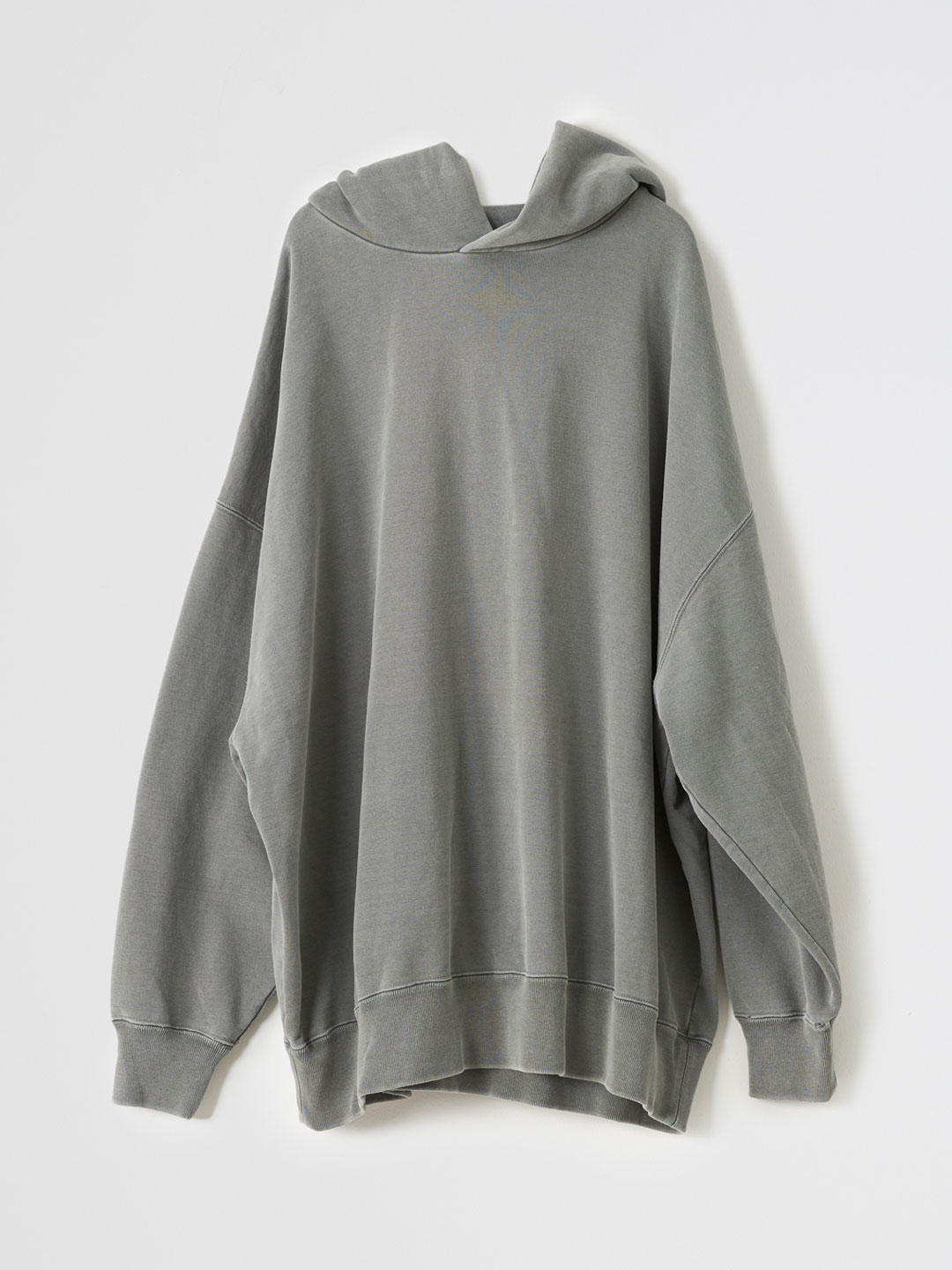 Basic Hooded Sweat Pullover  - Charcoal Grey