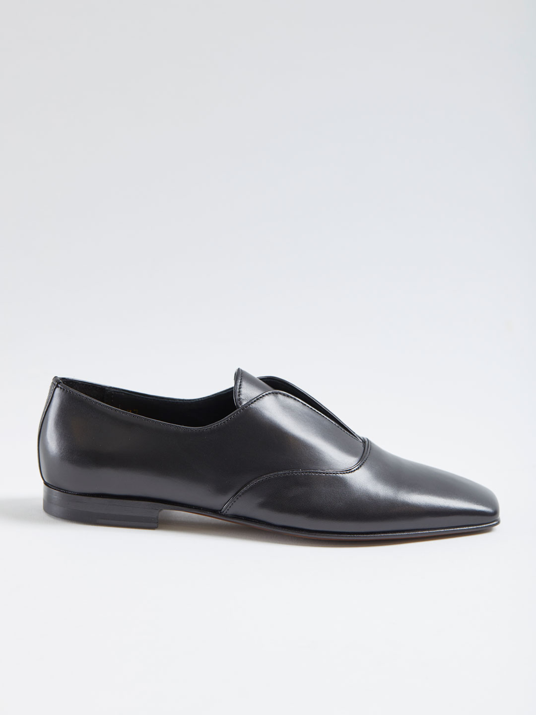 Corsair Leather Flat Shoes - Black