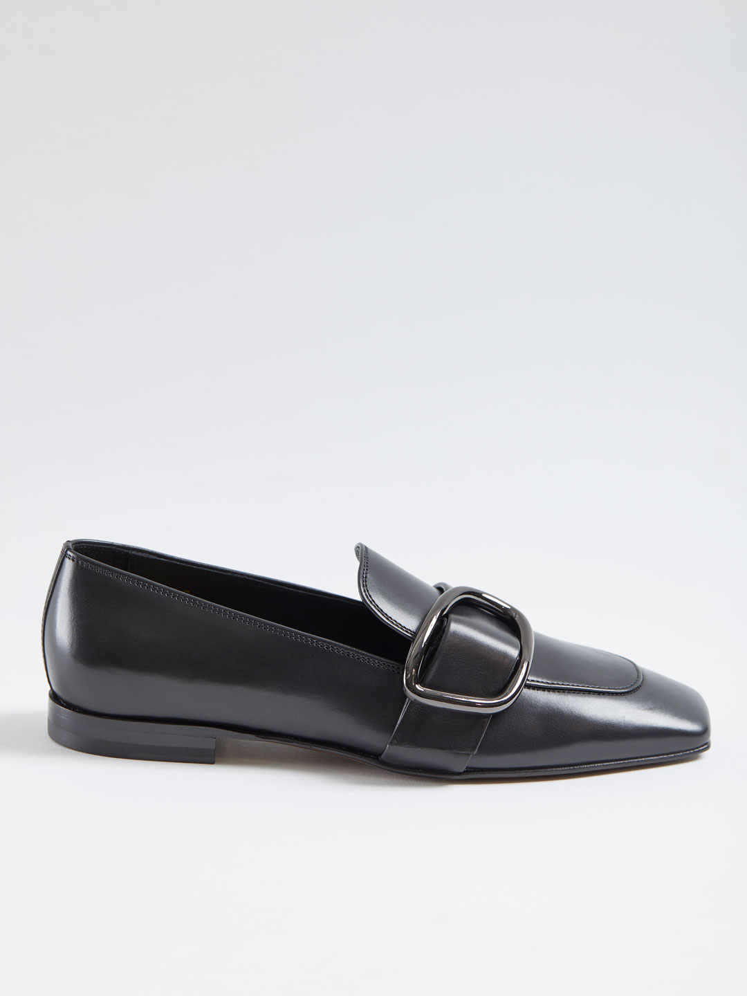 Charmer Belted Loafer - Black