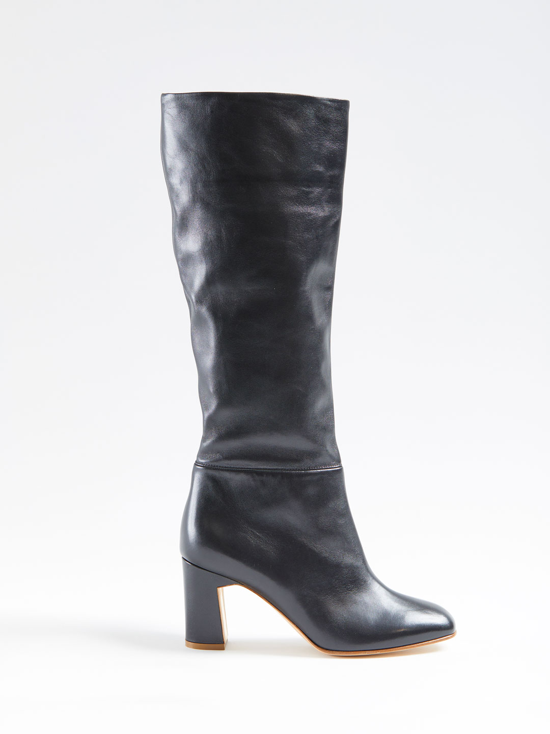 Au Revoir Heel Long Boots - Black