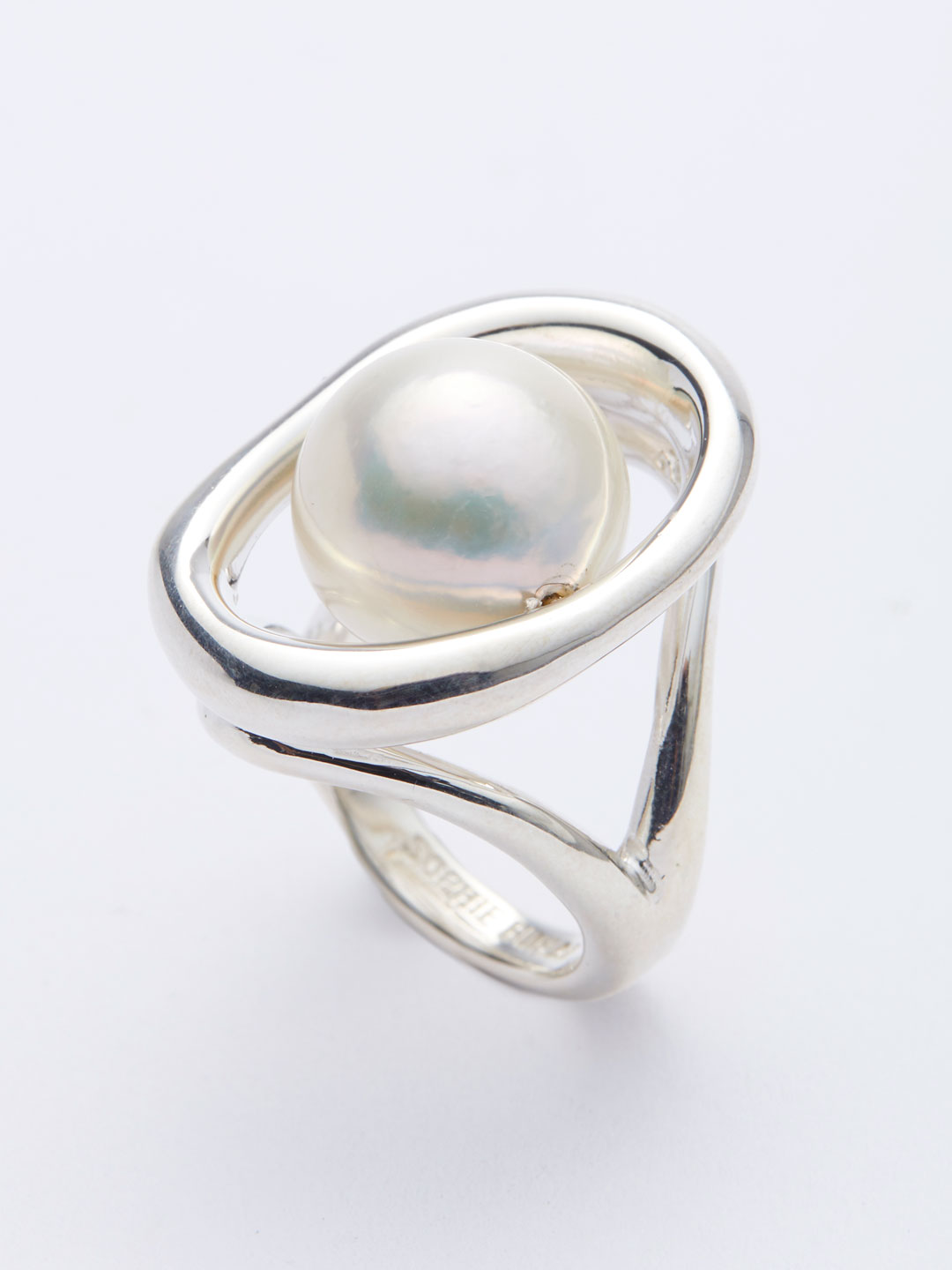 Pearl Orb Ring - Silver