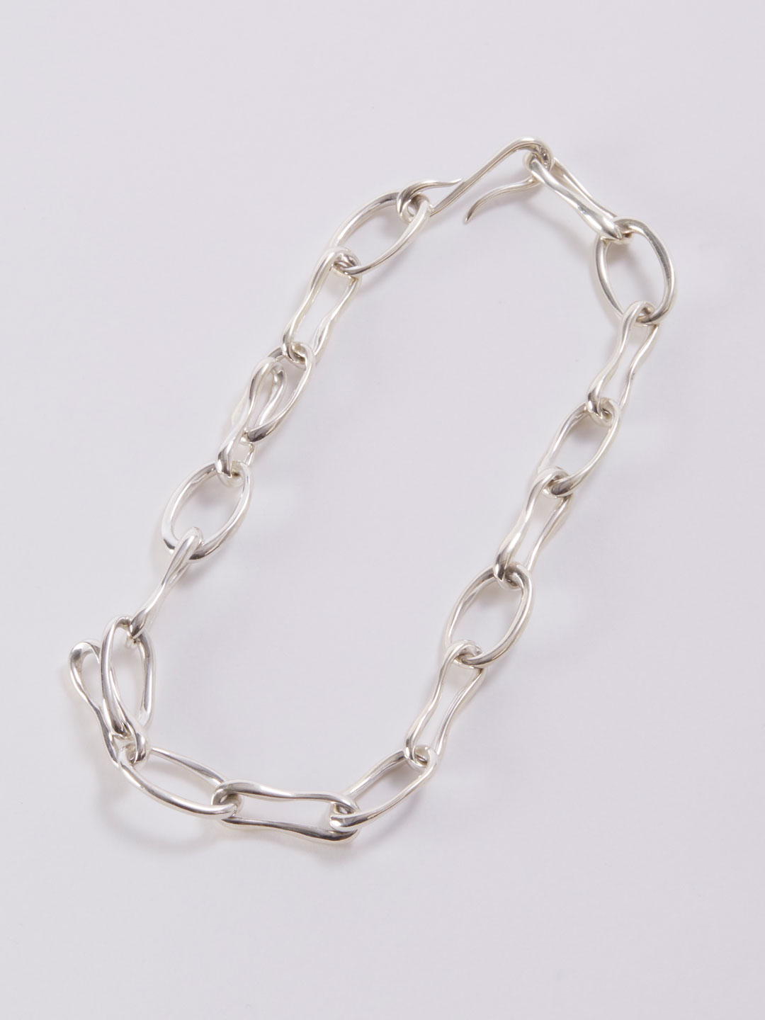 Roman Chain Collar Necklace - Silver