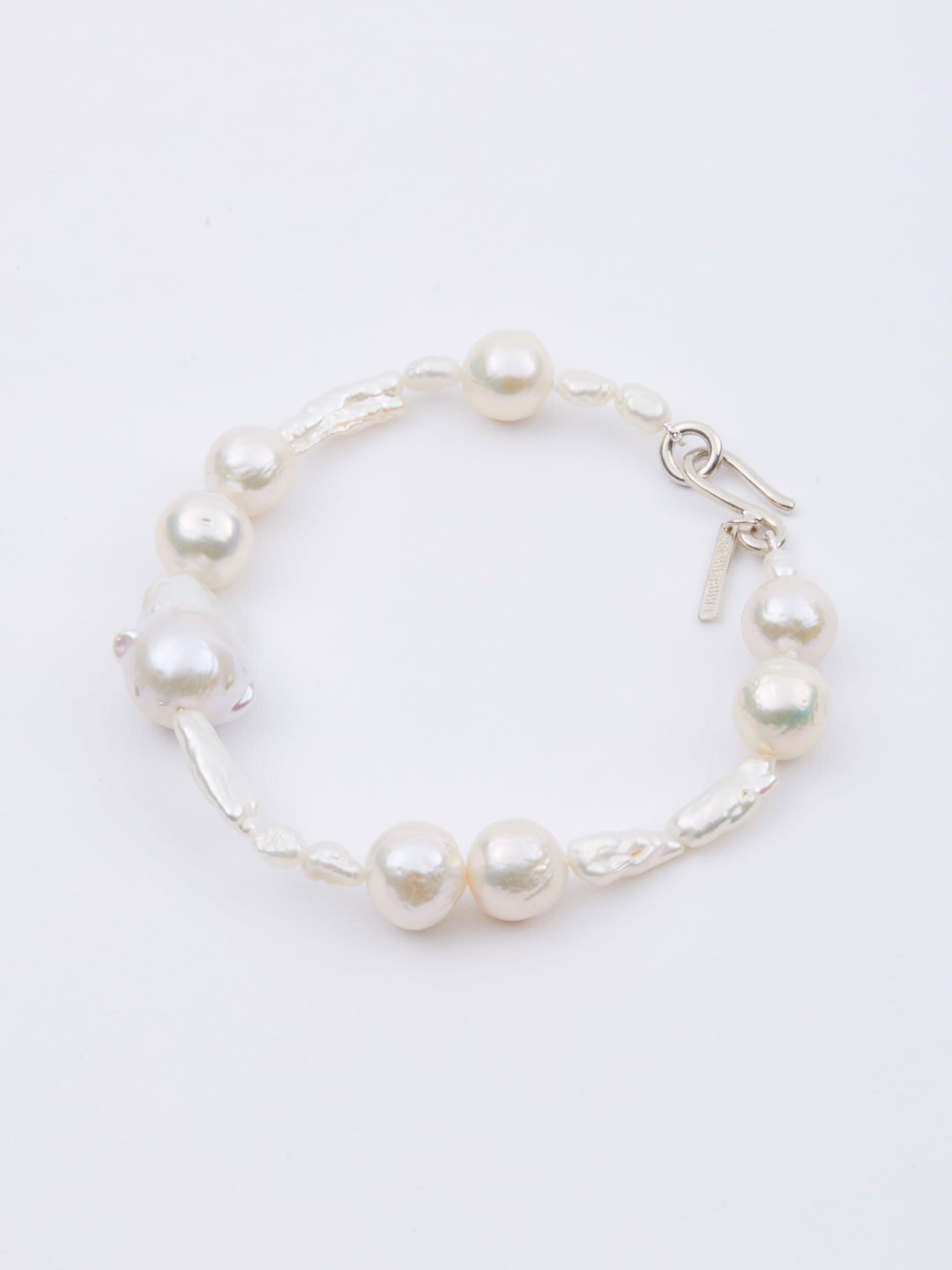 Assemblage Pearl Anklet  - Silver