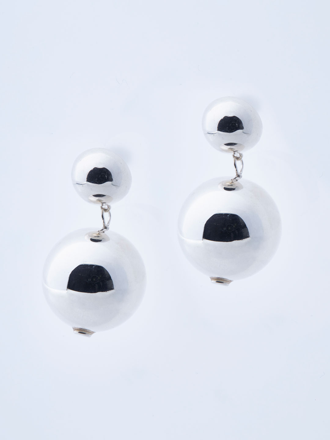 Perriand Pierced Earrings - Silver
