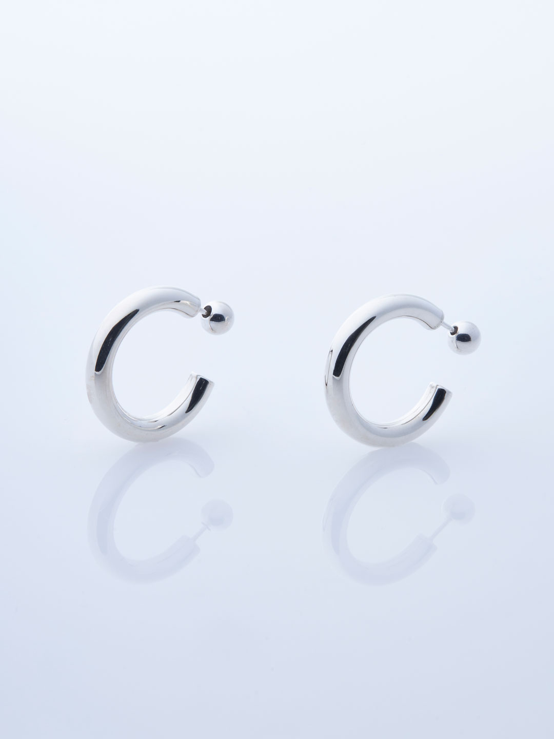 Small Everyday Pierced Hoops - Silver