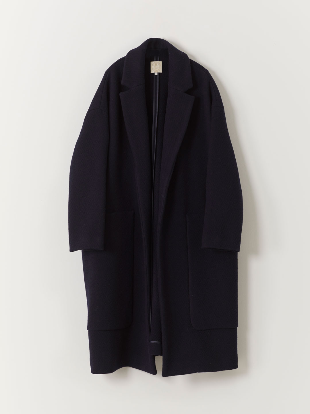 Front Big Pocket Coat- Navy