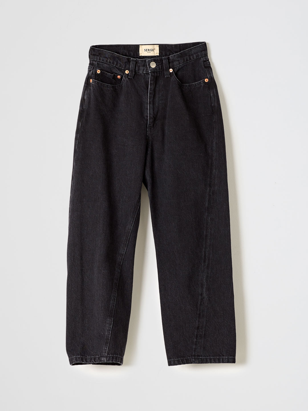 SERGE dodo bleu CROPPED PANTS - Black