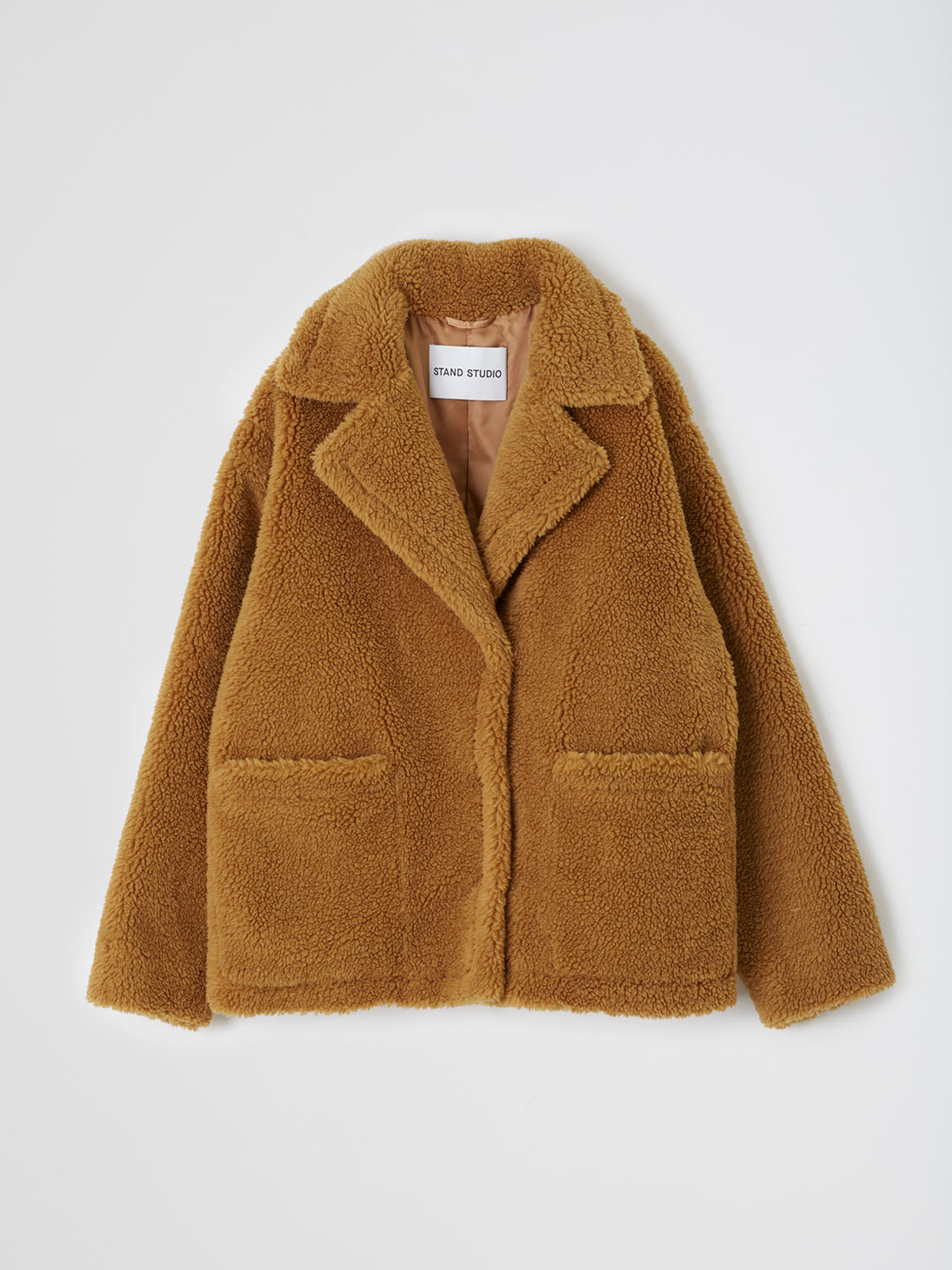 Marina Jacket Teddy Faux Fur  - Brown