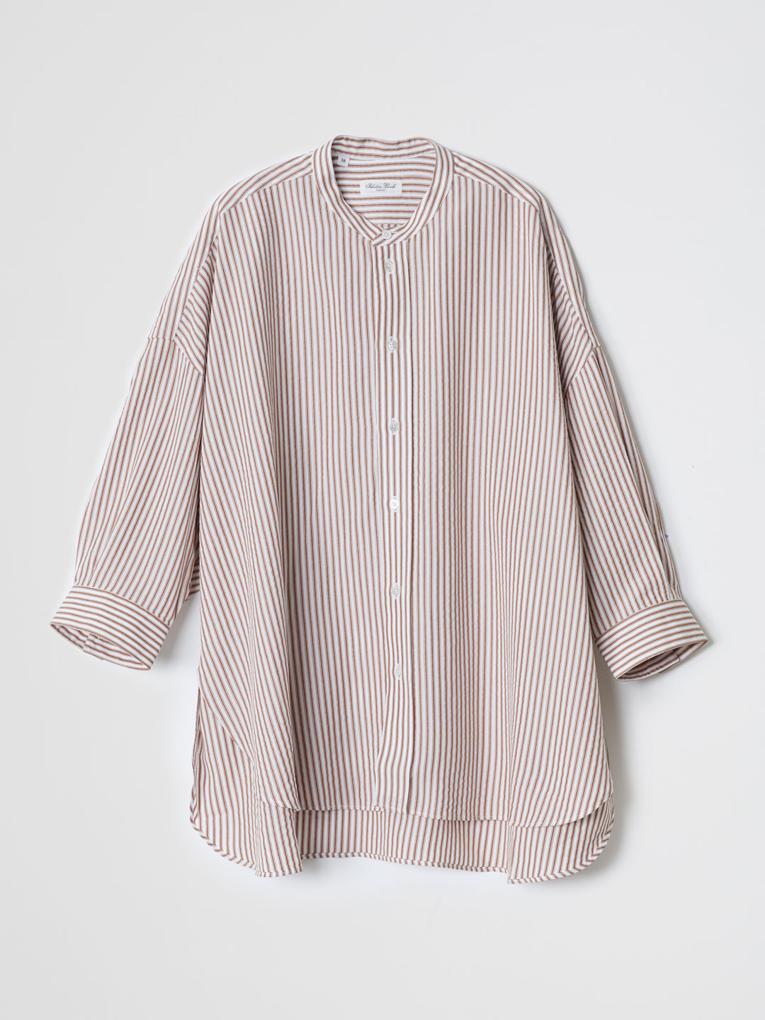 MONICA Stripe Shirt - Brown