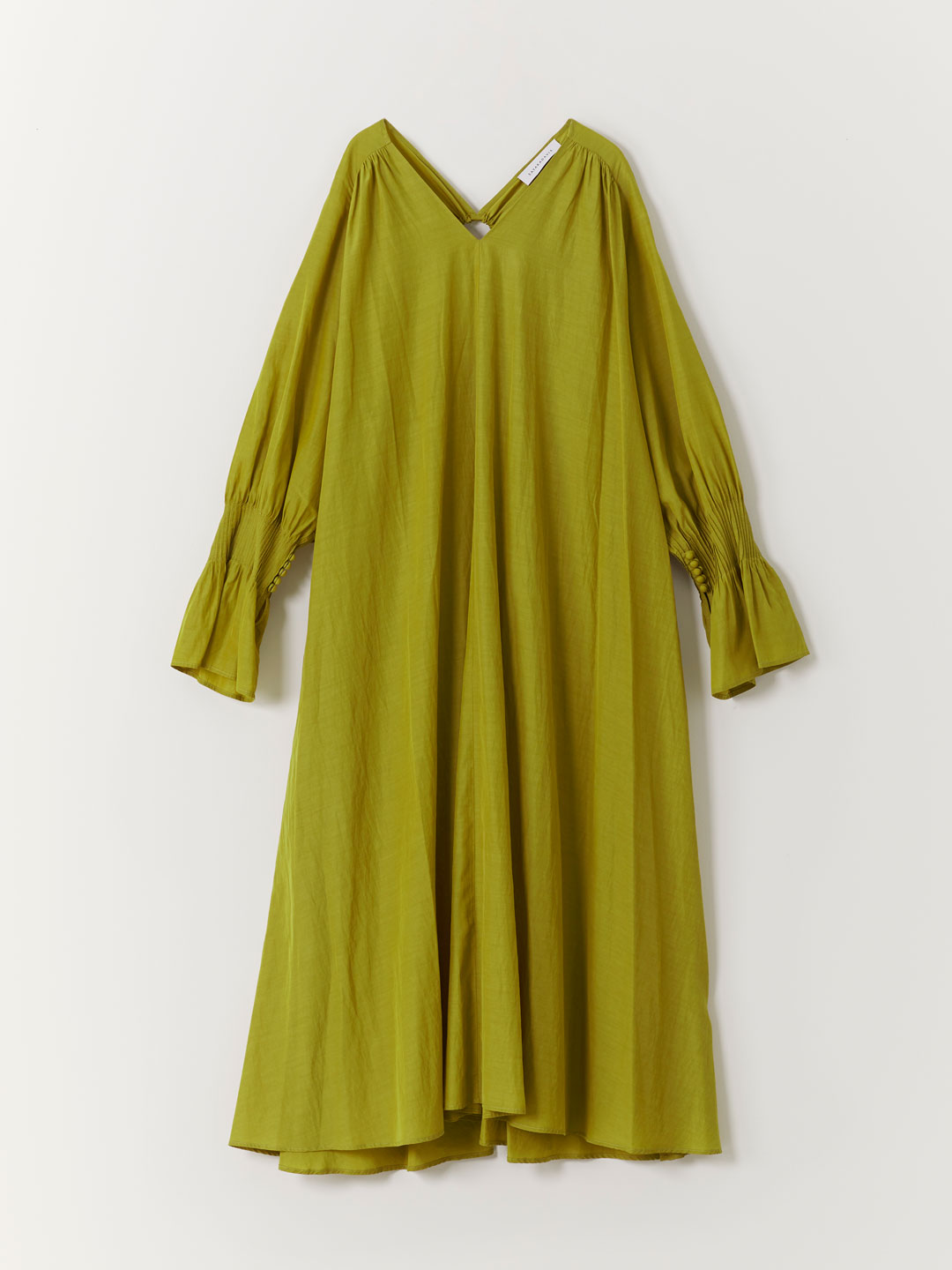Gathered Back Dress - Yellow