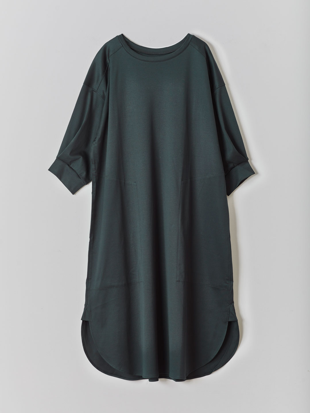 Tee Shirts Dress  - Green