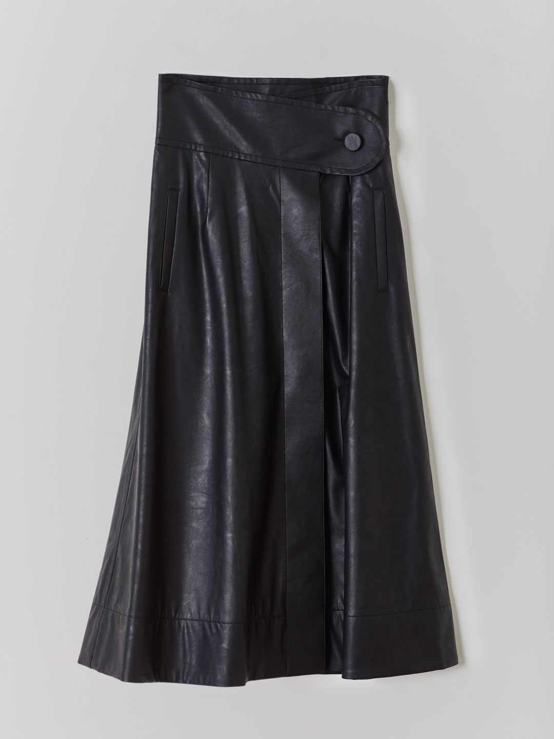 High Waisted Skirt  - Black