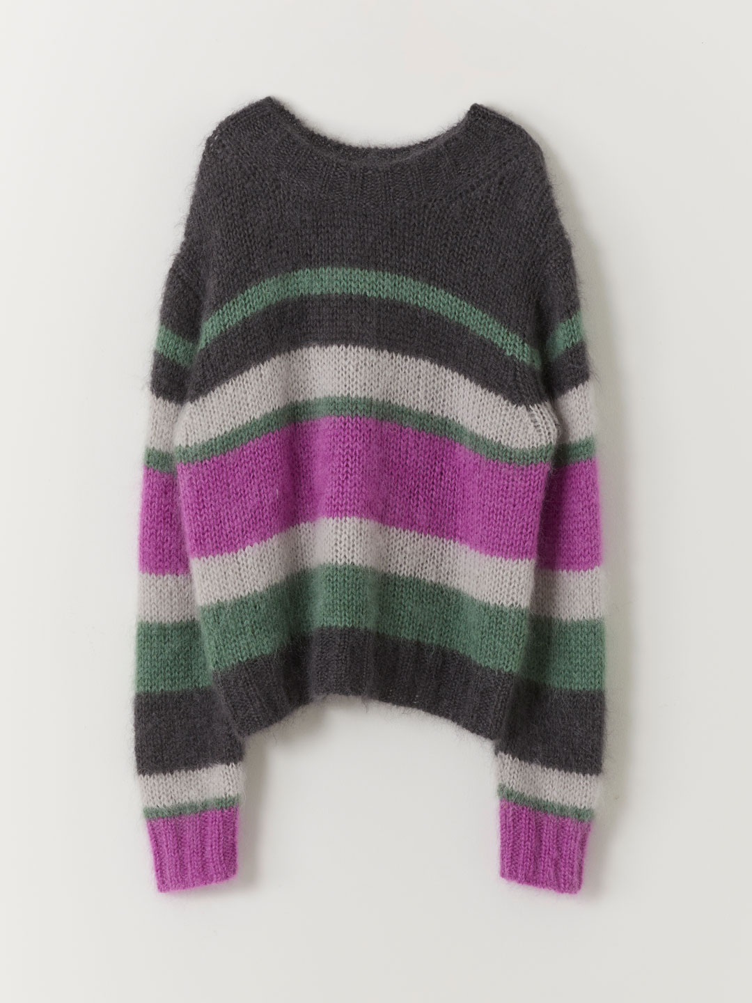 Color Block Sweater  - Grey
