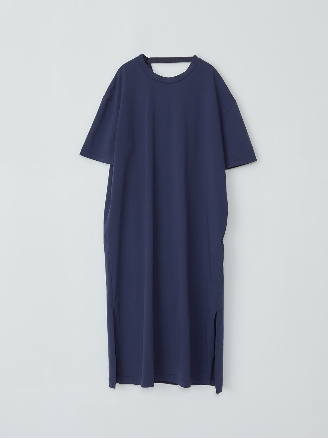Draped Back Tee Dress - Navy【LIMITED ITEM】