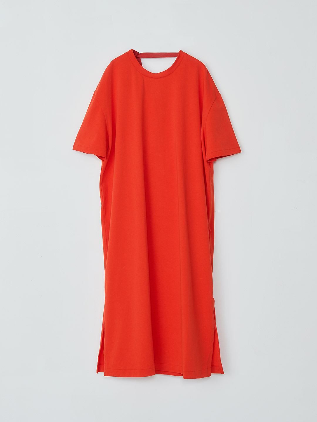 Draped Back Tee Dress - Red【LIMITED ITEM】