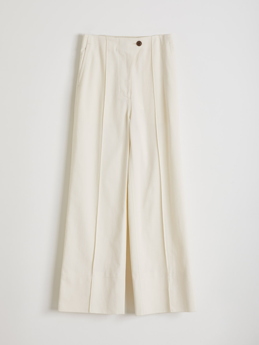 High Waisted Pants - Off White