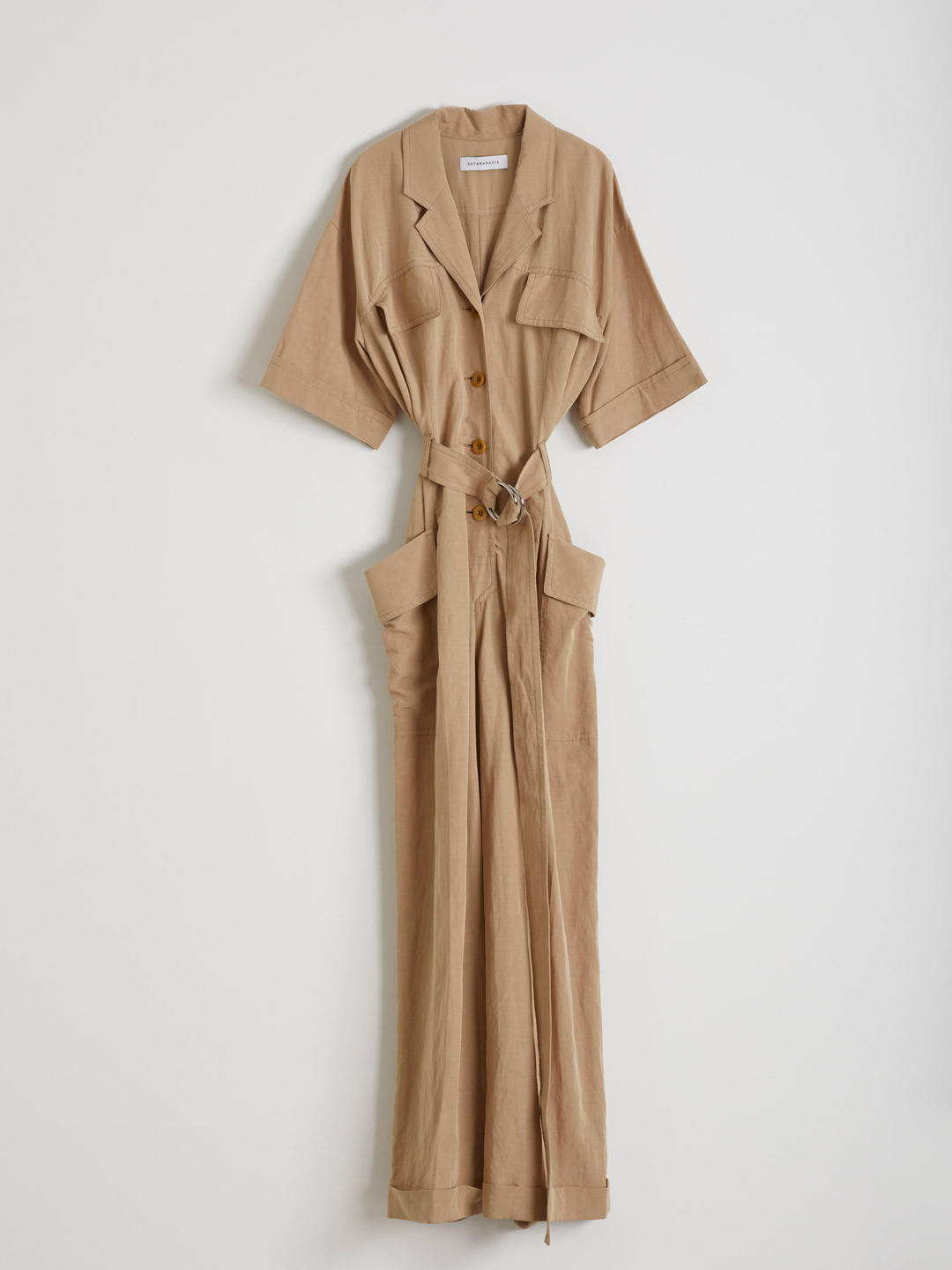 Safari Jumpsuit  - Light Brown