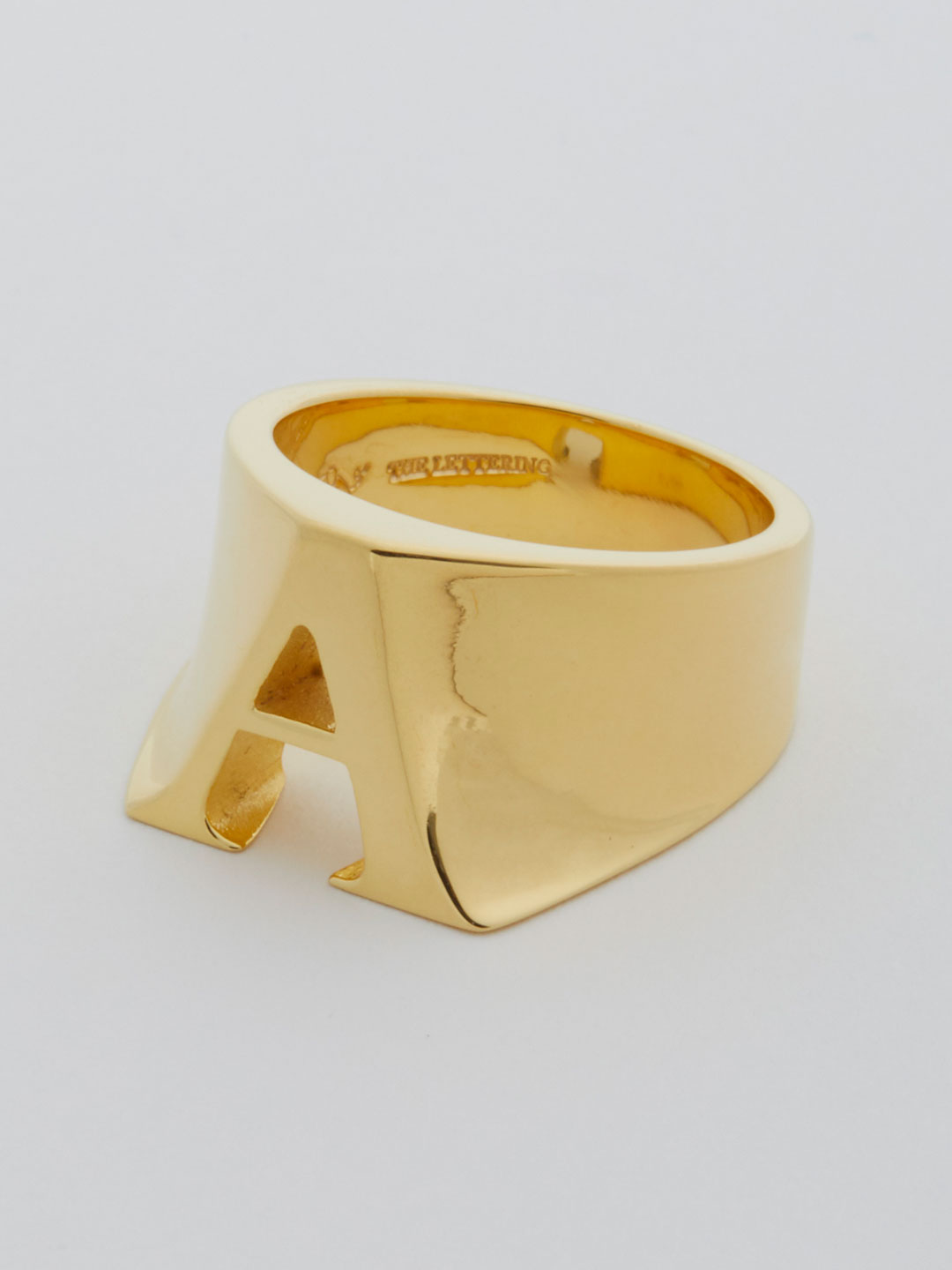 Alphabet Ring A - Gold