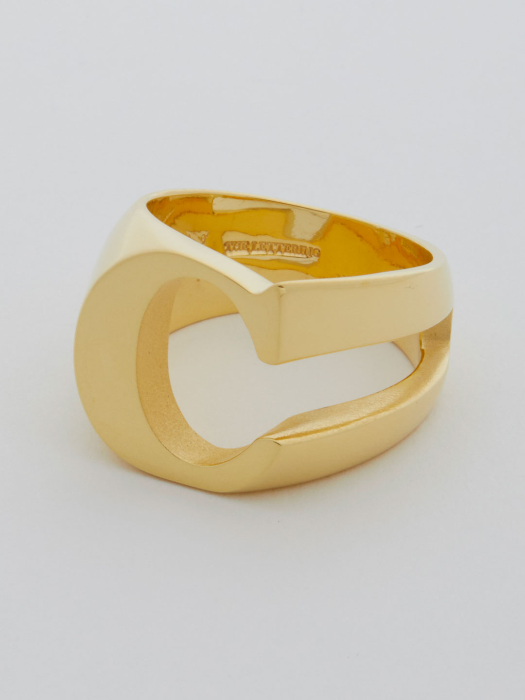 Alphabet Ring C - Gold