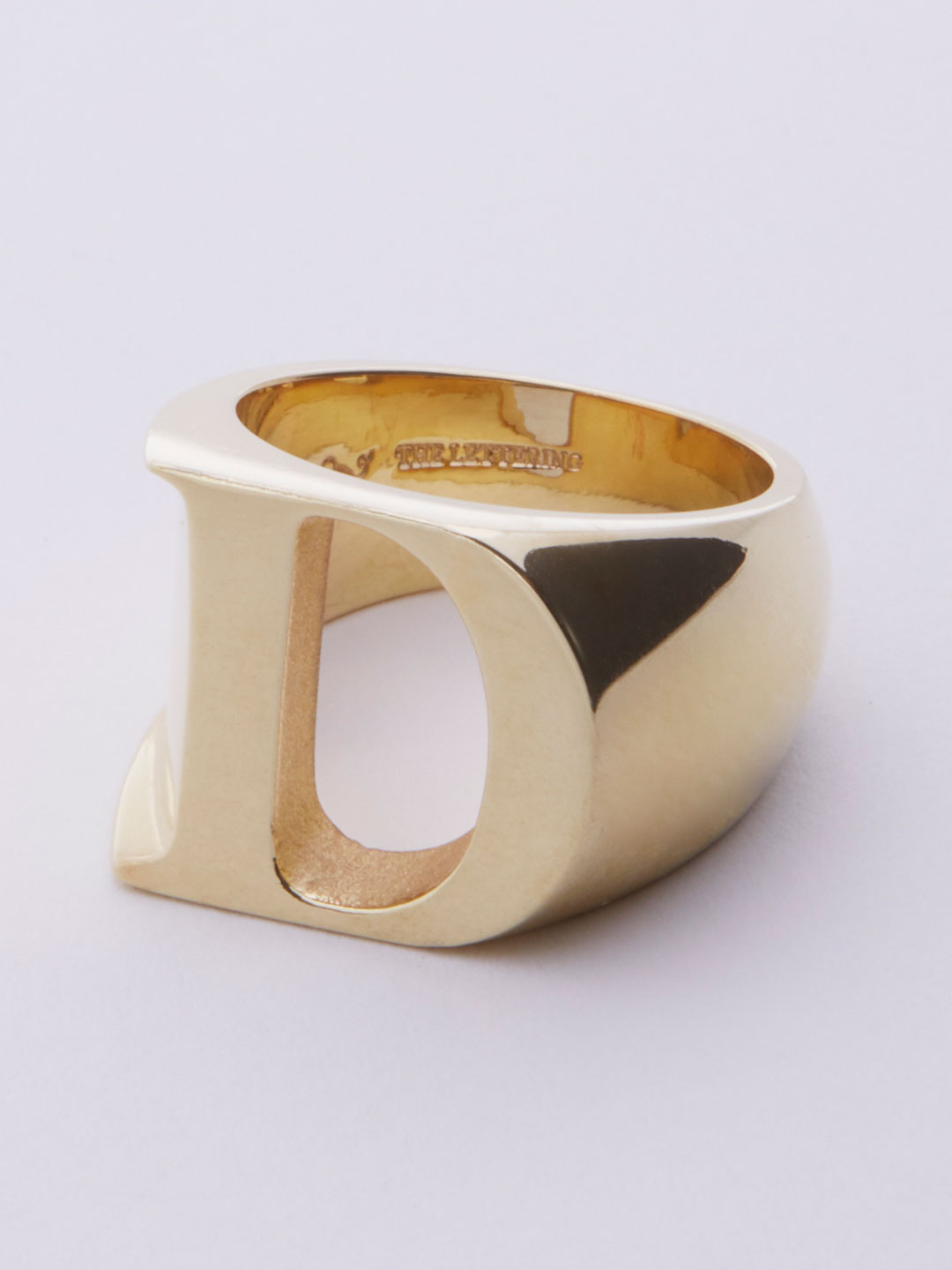 Alphabet Ring D - Gold