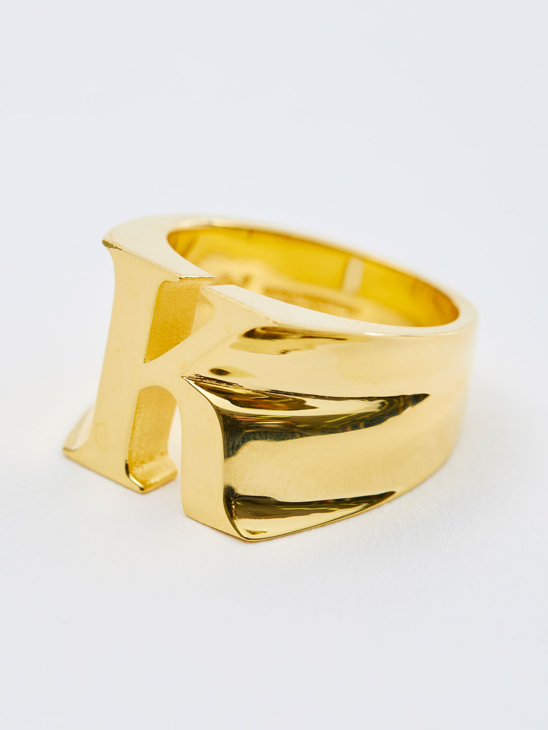 Alphabet Ring K - Gold