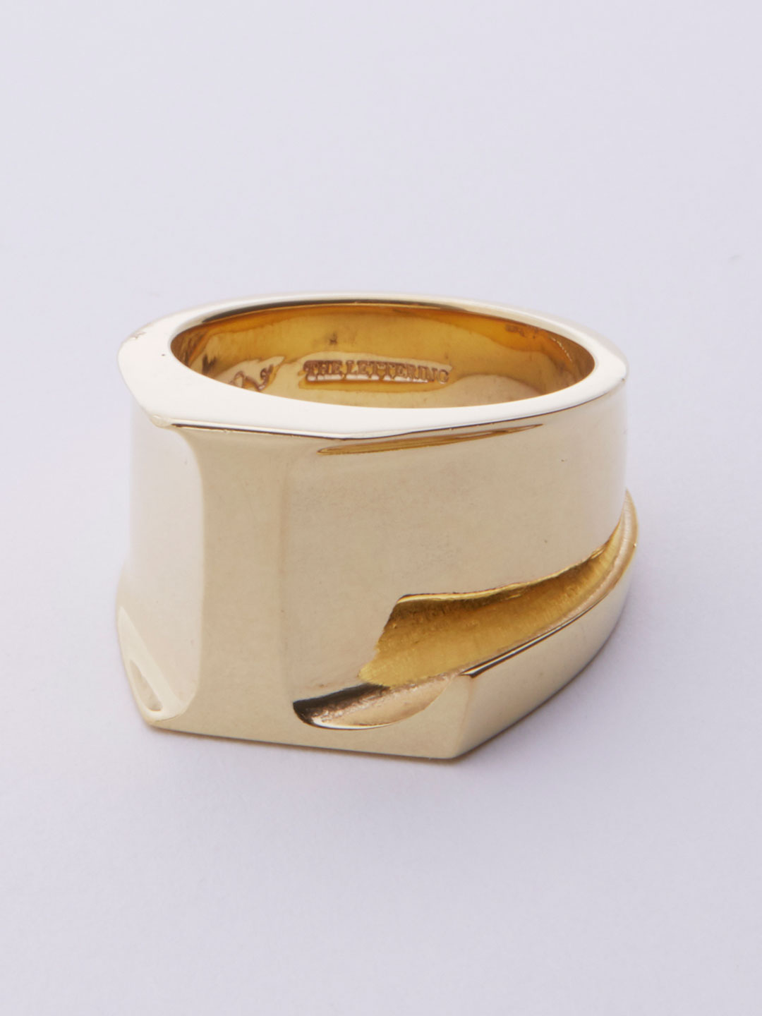 Alphabet Ring L - Gold
