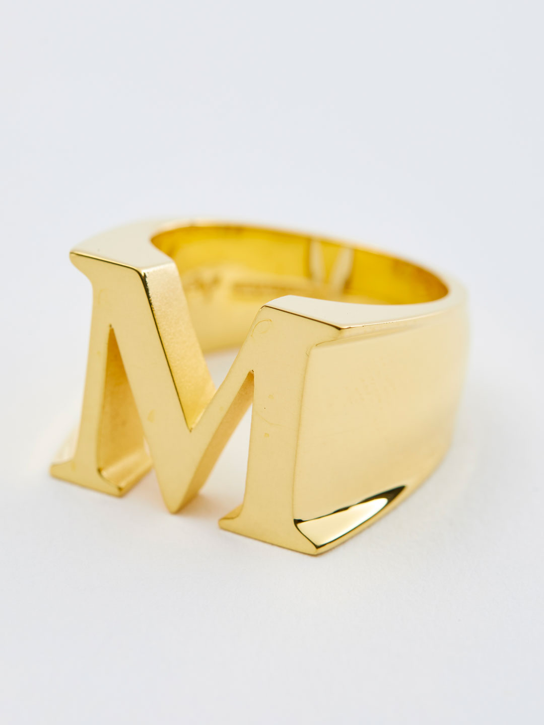 Alphabet Ring M - Gold
