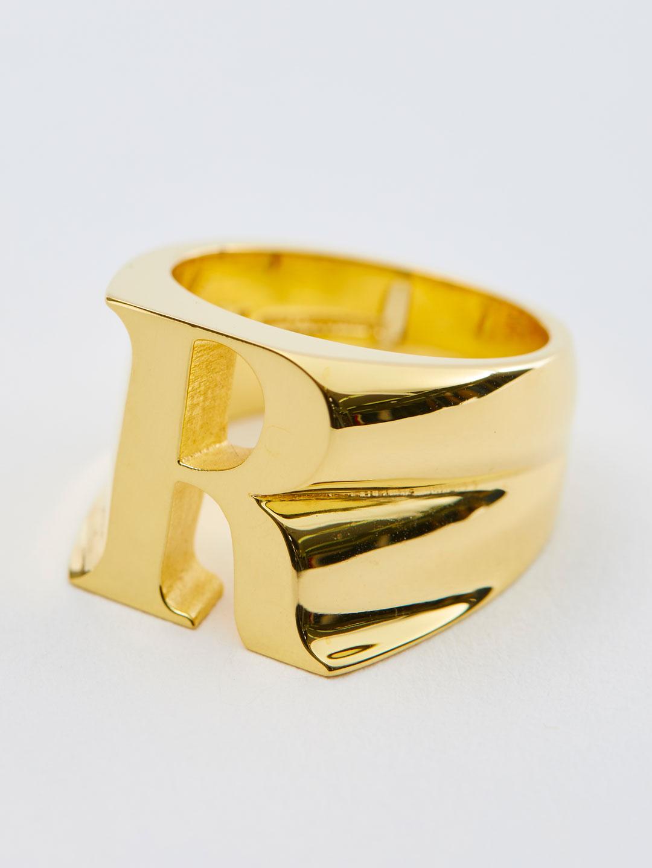 Alphabet Ring R - Gold