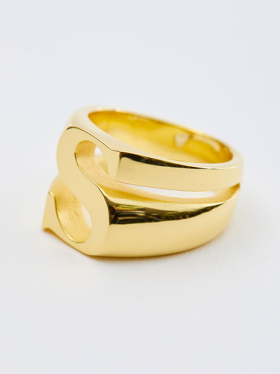 Alphabet Ring S - Gold