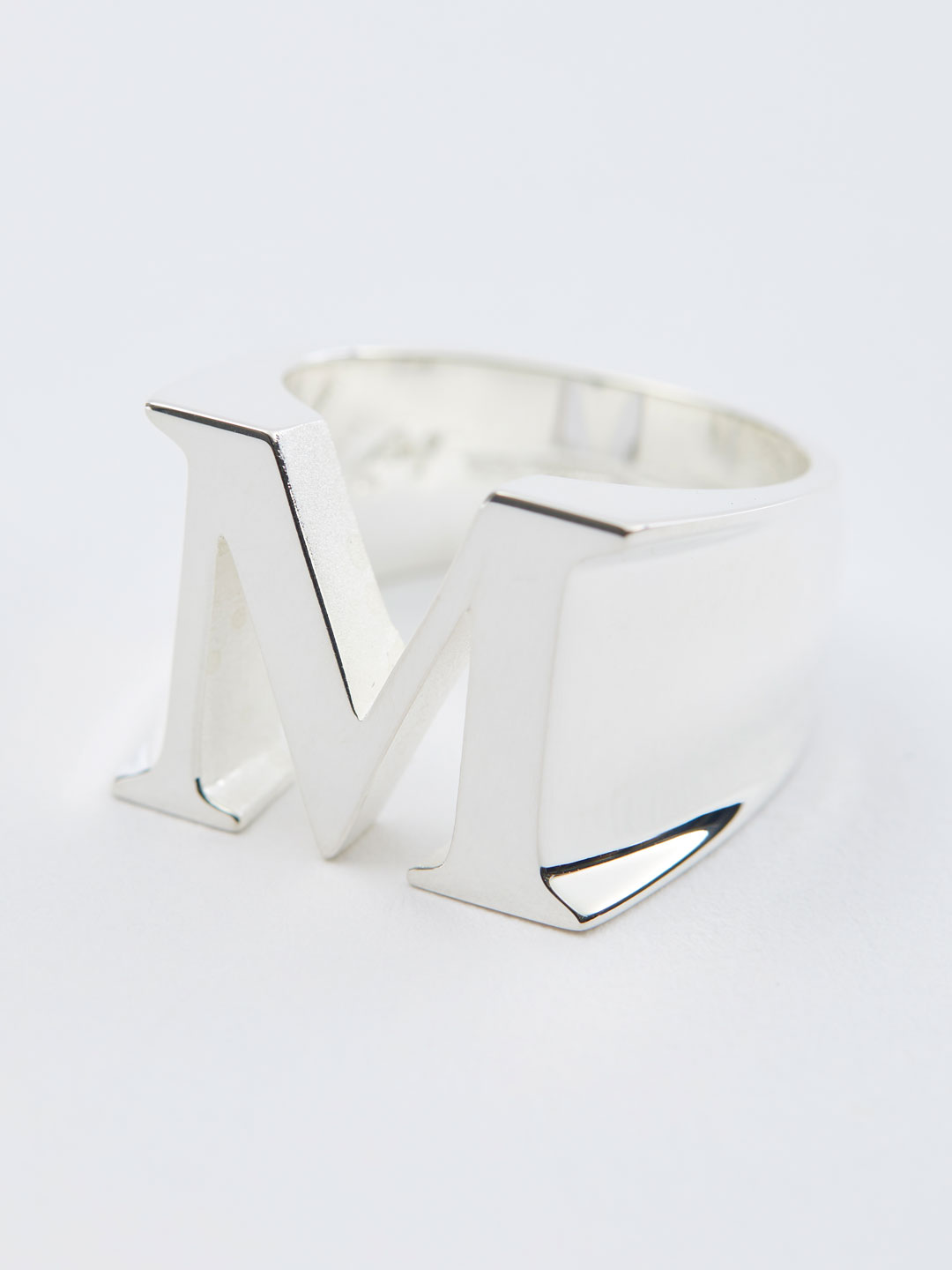 Alphabet Men's Ring M - Silver