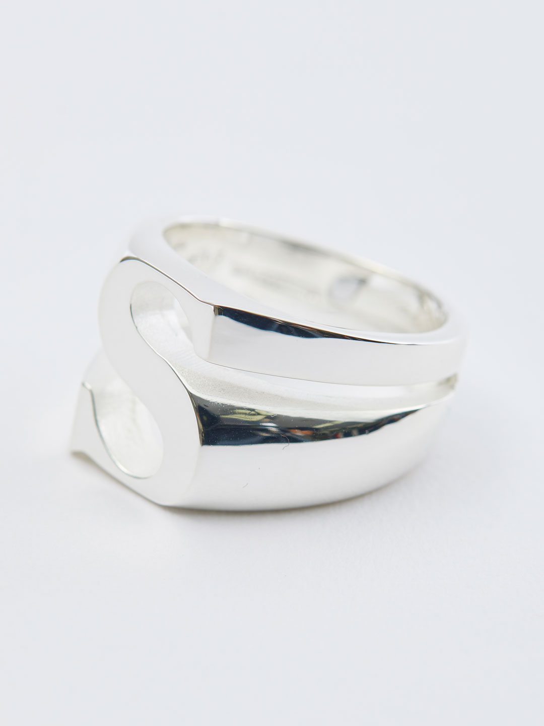 Alphabet Men's Ring S - Silver