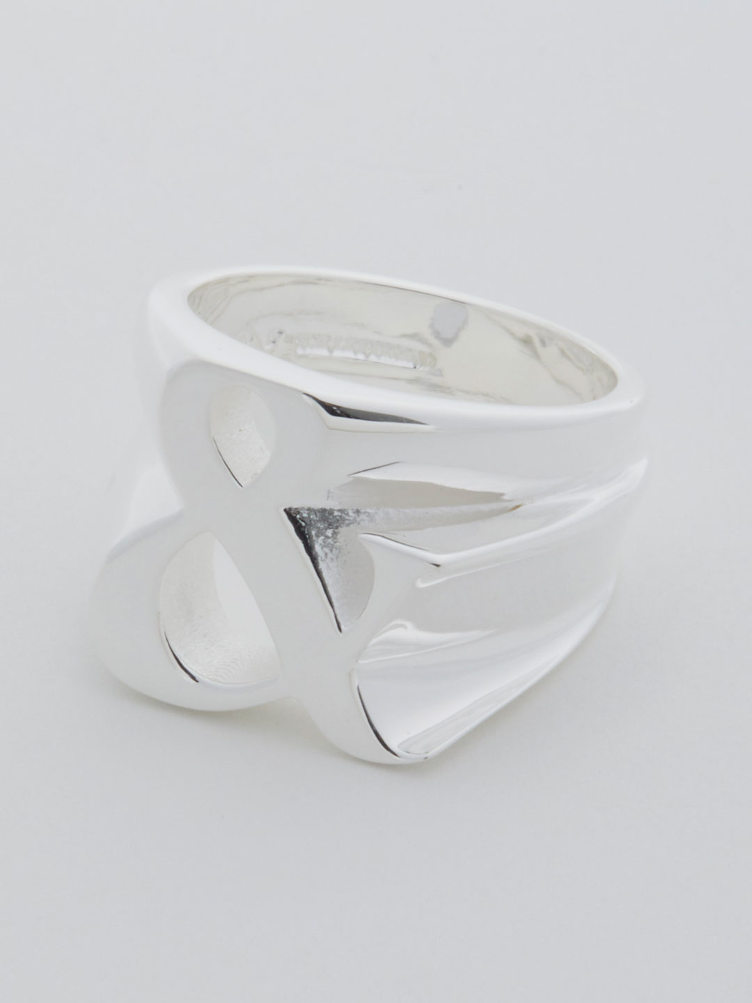 Alphabet Men's Ring & - Silver
