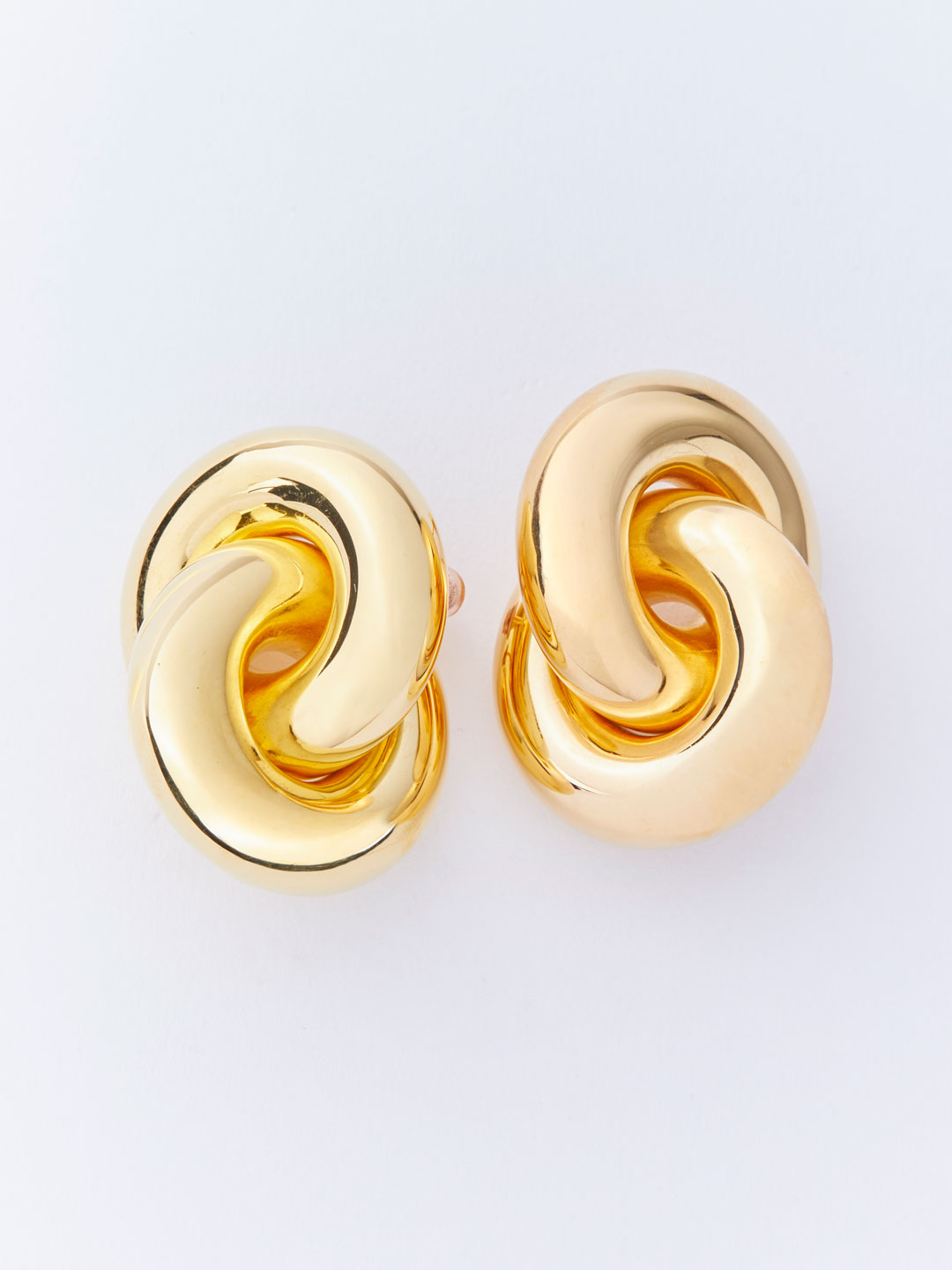 Cumulus Pierced Earrings - Gold