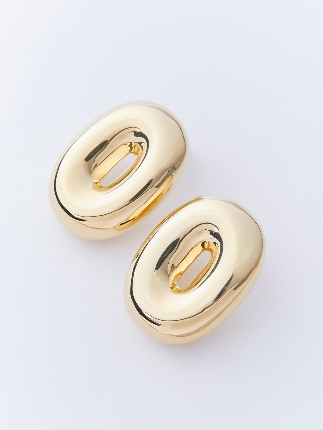Torus Pierced Earrings - Gold