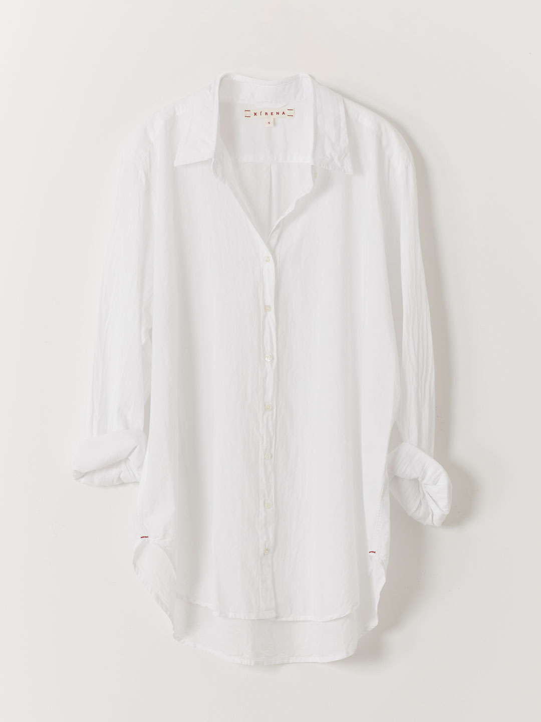 Beau Cotton Poplin Shirt - White