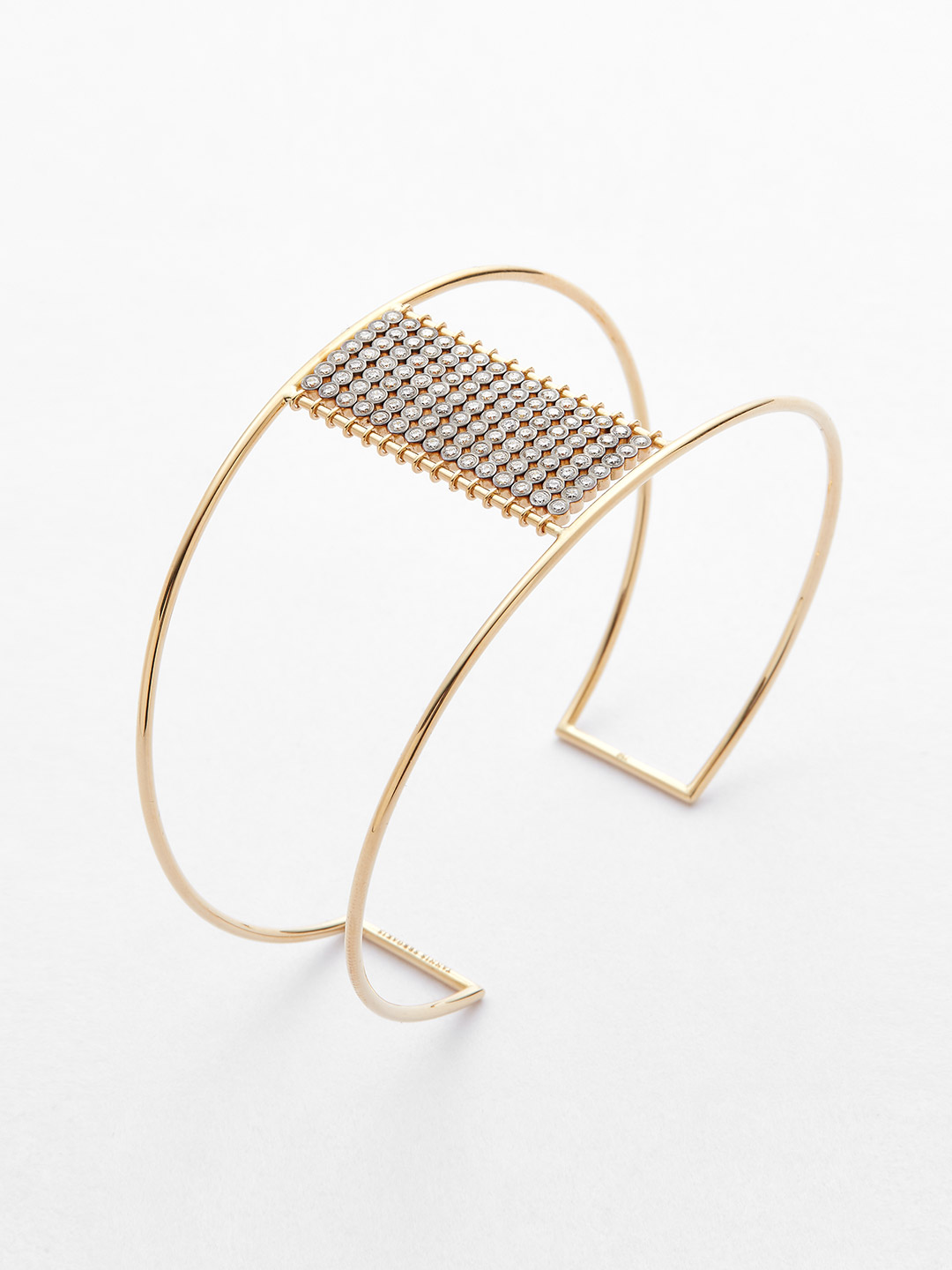 Diamond Bangle - 18K Yellow Gold